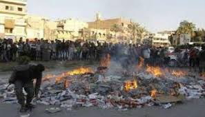 mosul book burning