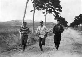 Greeks training for the 1896 Olympic marathon